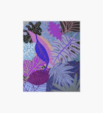 Ultraviolet Fade Nature Leaves Art Board Print