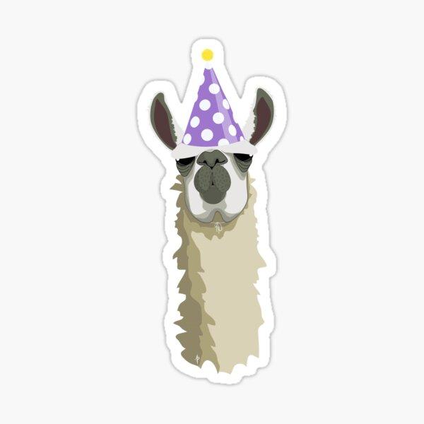 Birthday Llama Sticker