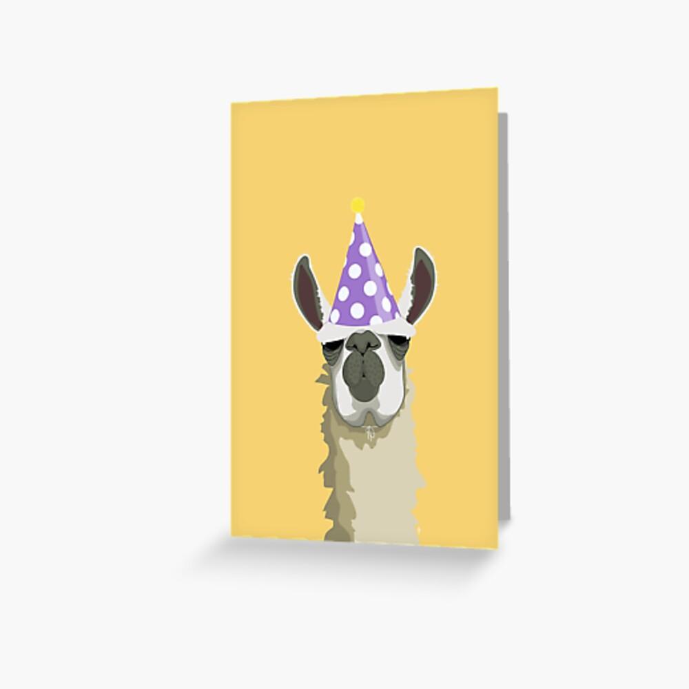 Birthday Llama Greeting Card