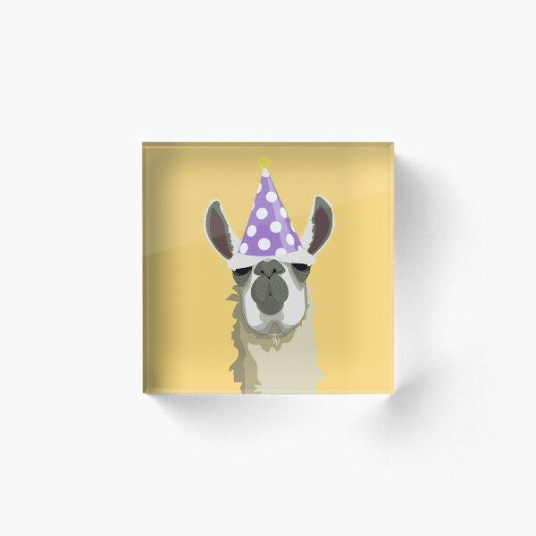 Birthday Llama Acrylic Block