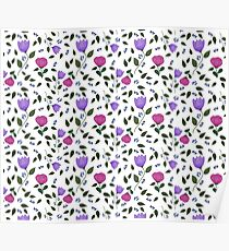 Pink Purple Flowers Poster