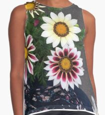 multi colored flowers  Contrast Tank