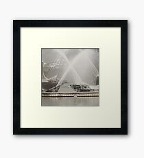 Captain Cook Fountain, Newcastle NSW Framed Print