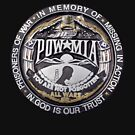 P.O.W. T-Shirt Large Logo by Karl R. Martin