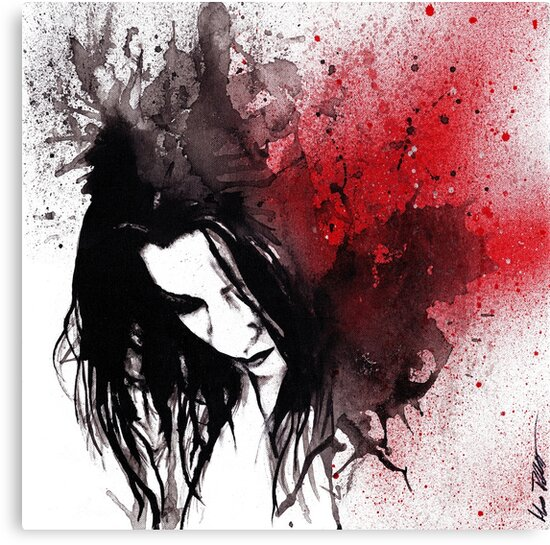 This Confession Means Nothing (dark lady graffiti portrait) by Marco Paludet