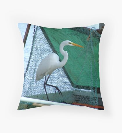 Thief at the Bait Tank Throw Pillow