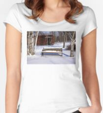 Bench In Winter Women's Fitted Scoop T-Shirt