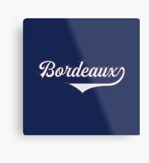 Bordeaux - France - Vintage Sports Typography Metal Print