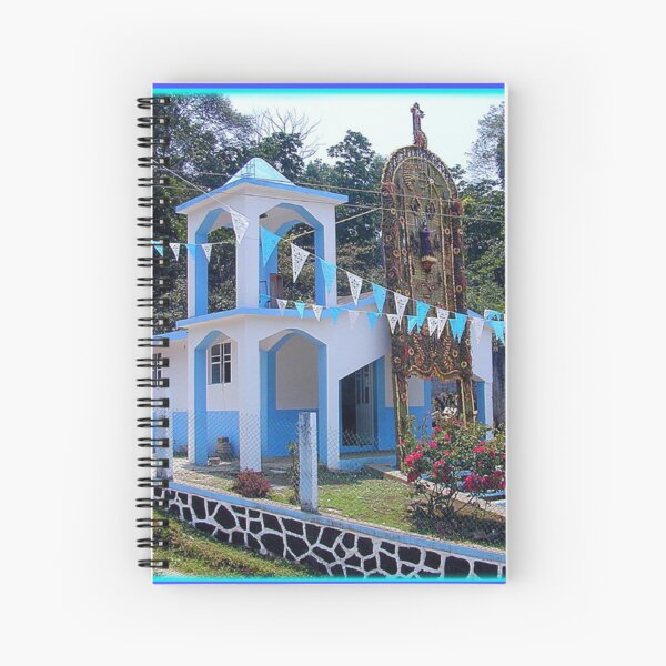 "Remote Chapel with ""Arco de Flores"" Spiral Notebook"