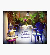 Zen Patio Photographic Print