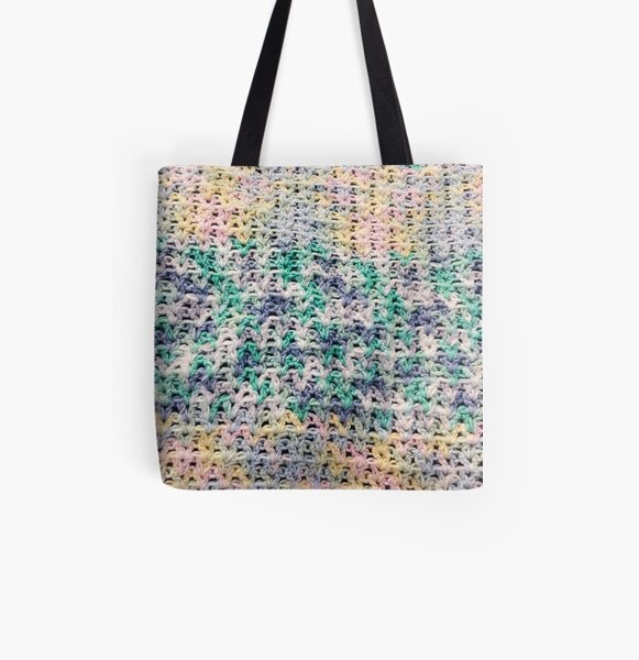 Color Wave of Stitches All Over Print Tote Bag