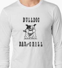 Bulldog Bar and Grill Retro Advertisement Long Sleeve T-Shirt