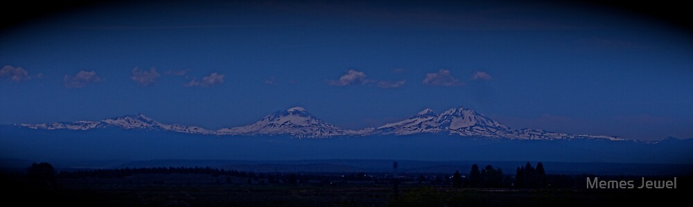 Majestic Three Sisters Mountains by Memes Jewel