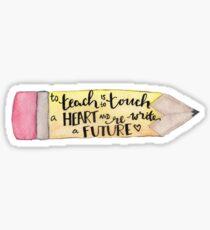 Lehrer-Zitat Sticker