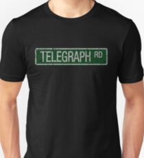 Telegraph Road green and  white street sign cracked Unisex T-Shirt