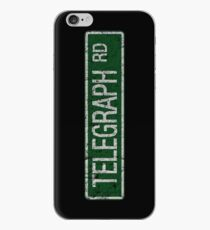 Telegraph Road green and  white street sign cracked iPhone Case