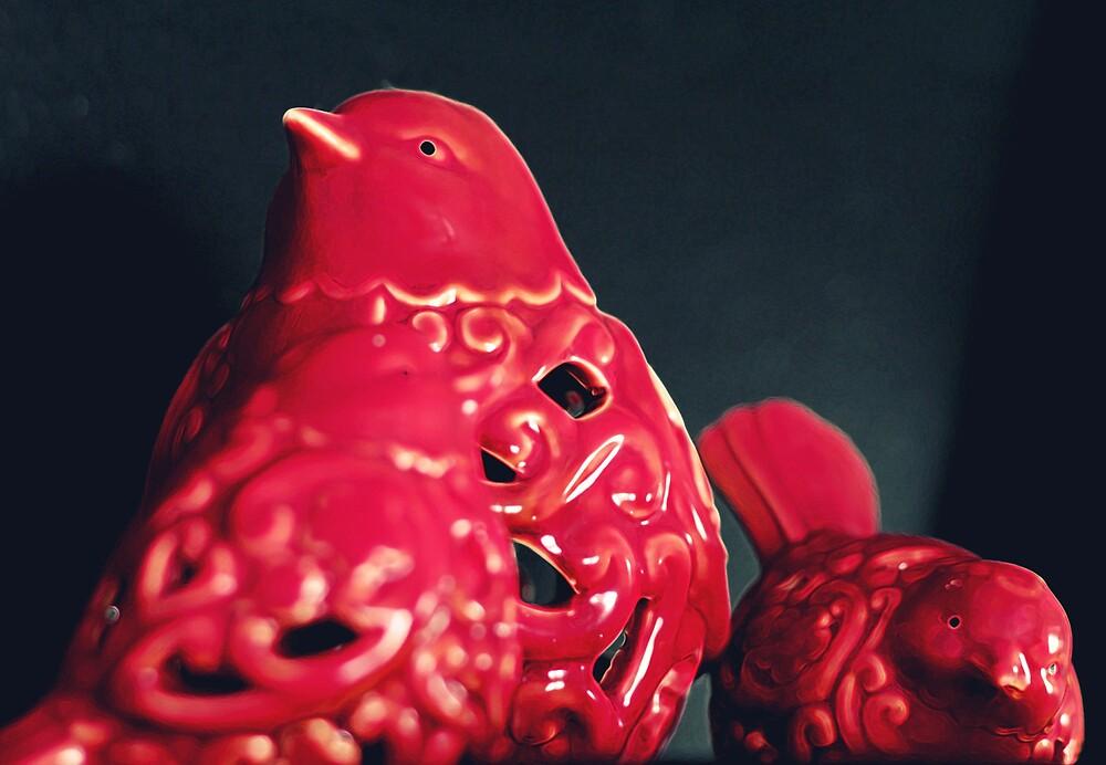 red birds by Jaime de la Cruz