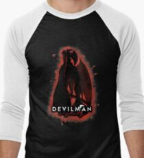 DEVILMAN crybaby Men's Baseball ¾ T-Shirt