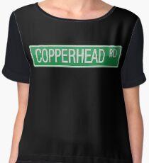 008 Copperhead Road street sign Chiffon Top