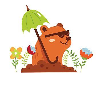 Funny and Awsome Happy Groundhog Day TShirt by bucksworthy
