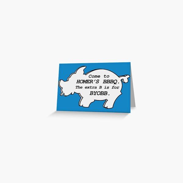 Homer's BBBQ Greeting Card