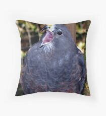 Dark morph, Swainson's Hawk Throw Pillow