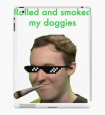 Muma rolled and smoked iPad Case/Skin