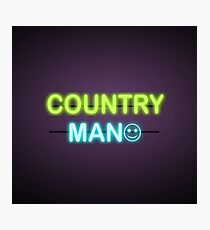 Country man, design art Photographic Print