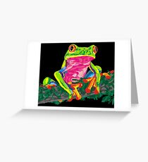 Fearless the Frog Greeting Card
