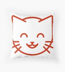 relax kitty Throw Pillow