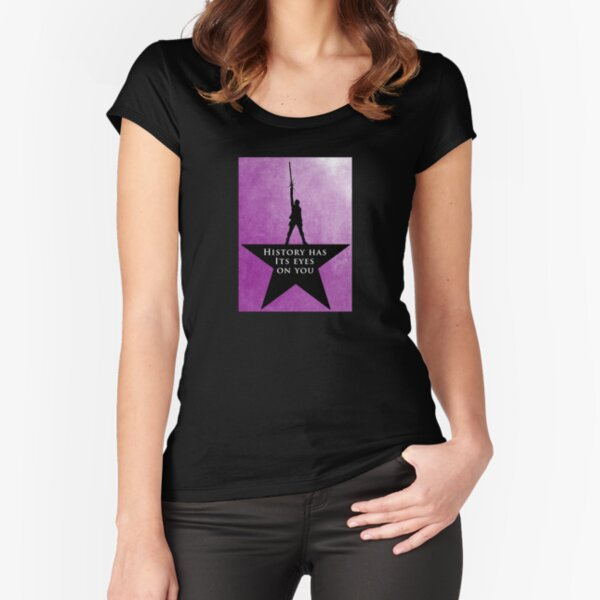 Star Wars - Hamilton Mashup: Lightsaber Rey (Quote #2) Fitted Scoop T-Shirt