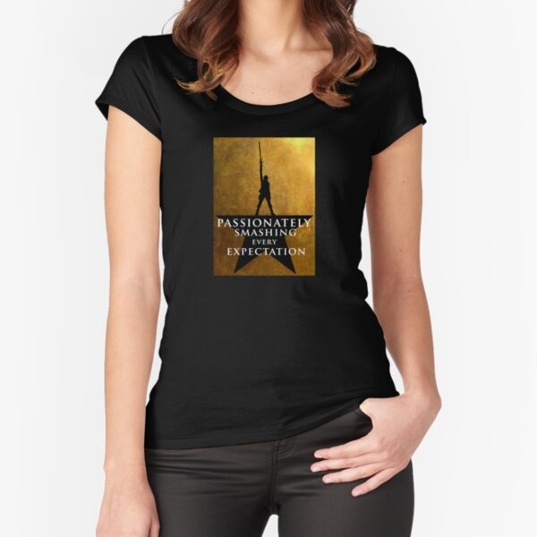 Star Wars - Hamilton Mashup: Lightsaber Rey (Quote #3) Fitted Scoop T-Shirt