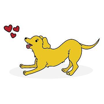 Perro amarillo Toby de lasercatz