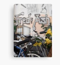 Street art and pushbikes  Canvas Print