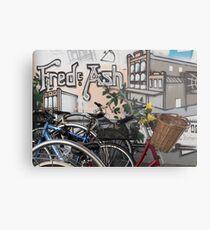 Street Art and Bicycles Metal Print