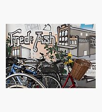 Street Art and Bicycles Photographic Print