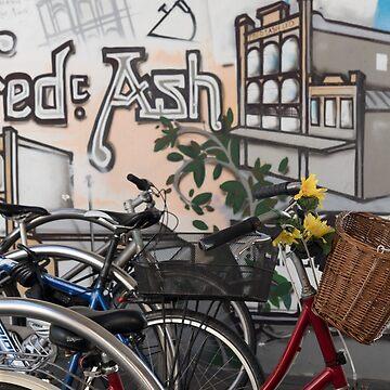Street Art and Bicycles by DeborahMcGrath