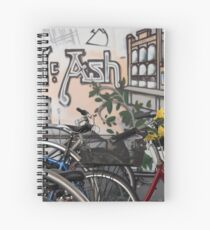 Street Art and Bicycles Spiral Notebook