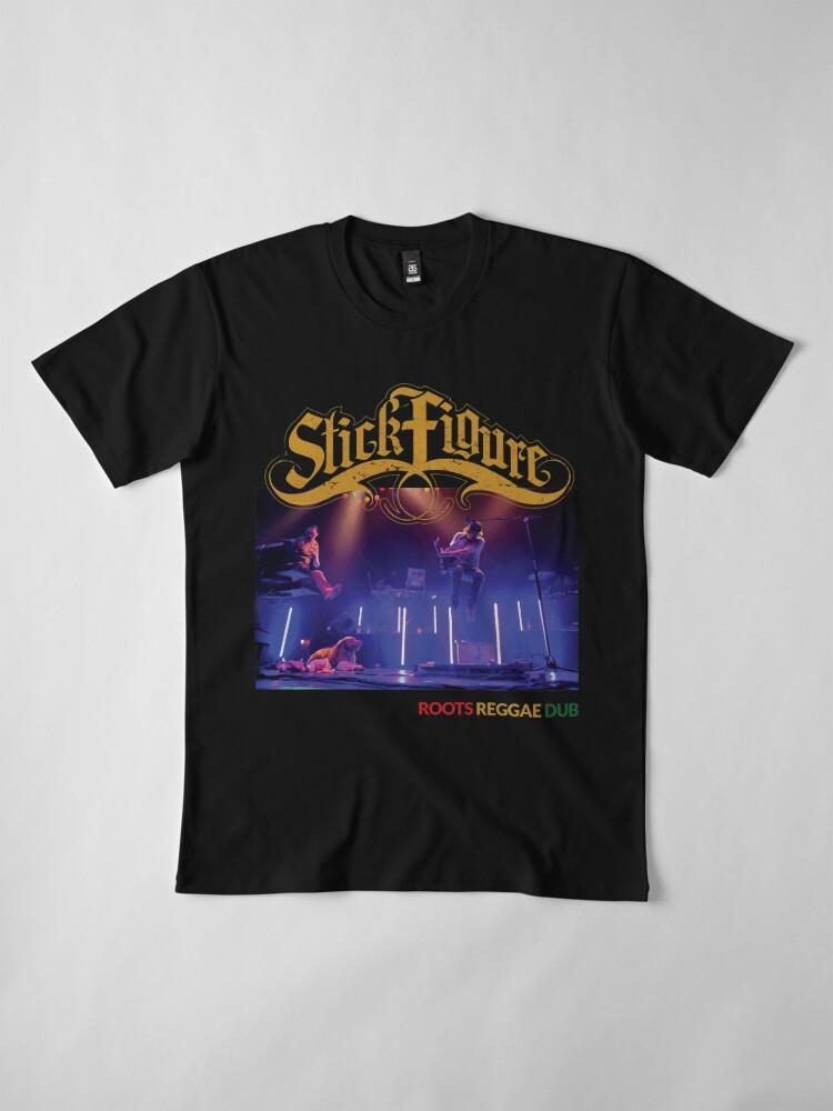 Alternative Ansicht von Strichmännchen Wurzeln Reggae Dub Premium T-Shirt