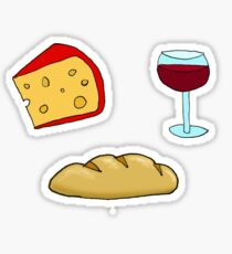 Bread, Wine, Cheese Sticker