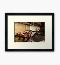 luxury  kitchen Framed Print