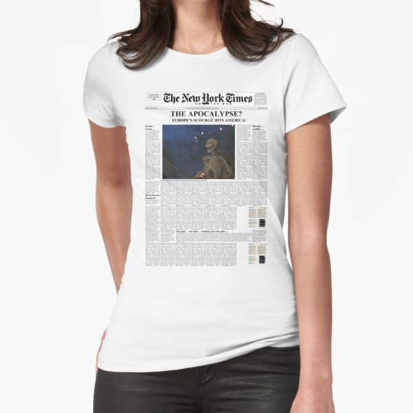 7 Days Later - The New York TImes Fitted T-Shirt