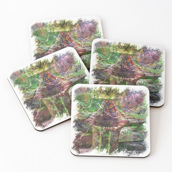 The Atlas of Dreams - Color Plate 119 Coasters (Set of 4)