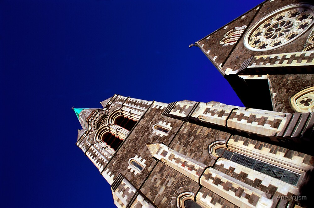 Cathedral Square in Christchurch New Zealand by Aneurysm