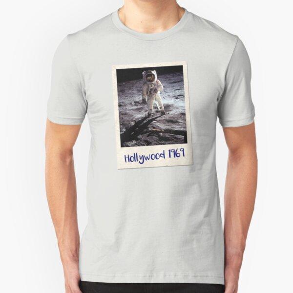 Fake Moon Landing Conspiracy Shirt Slim Fit T-Shirt