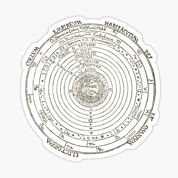 Geocentric model, geocentrism, Ptolemaic system Sticker