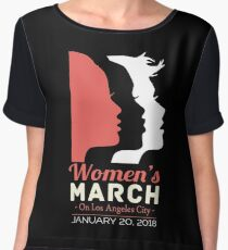 women's march los angeles city 2018 Chiffon Top
