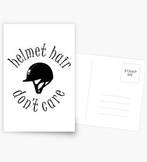 Helmet Hair, Don't Care Postcards