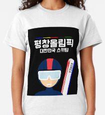 PyeongChang 2018 Olympic Figures Women Relaxed V Neck Short Sleeve T-Shirt New