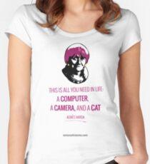 Agnès Varda, le bonheur Women's Fitted Scoop T-Shirt